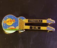 Hard Rock Cafe Pin Fukuoka - Blue Doubleneck Guitar with Fukuoka Dome - (#2496)