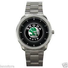 Skoda Auto Automobile manufacturer Logo Sport Metal Watch