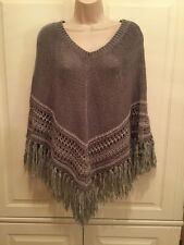 AMERICAN EAGLE Women's XS/S Gray Pullover Poncho Style Sweater Cotton Blend