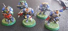 Warhammer 40000 Space Marines Scouts squad painted in Ultramarine Colours
