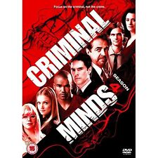 Criminal Minds - Complete Season 4 With Extras 7 Disc Box Set  NEW DVD