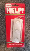 Help 00602 3 Hole Push In Battery Filler Bar Prevents Acid Spashing/Evaporation