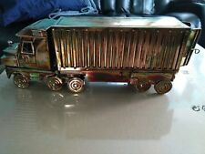 MUSICAL Metal Copper Model Sculpture Truck plays On the Road Again