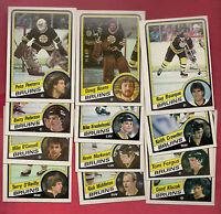 1984-85 TOPPS BOSTON BRUINS  CARD LOT