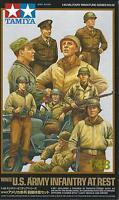 TAMIYA 1:48 KIT SOLDATI  WWII U.S. ARMY INFANTRY AT REST  9 FIGURE  ART 32552