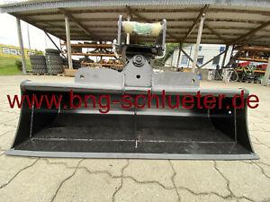 - Grabenräumlöffel hydraulisch schwenkbar – Aufnahme MS03 – 1.400 mm -