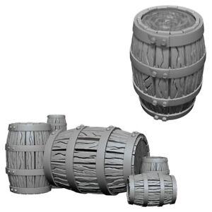 Pathfinder Deep Cuts Unpainted Miniatures - Barrel & Pile of Barrels