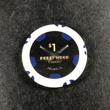New ListingHollywood Riverboat Casino $1 Casino Chip White Illinois Cg028375 Joliet