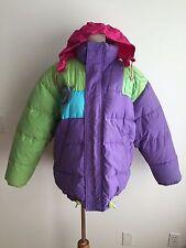 Brambilla Down Puffer Winter Coat w/Retractable Hood Purple, Green Size S