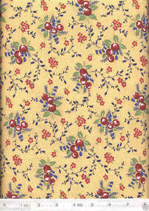 Favorite Things Berries & Flowers Yellow Quilt Fabric - 3/4 Yard Piece