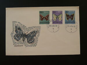 insect butterfly FDC Yugoslavia 1964 (ref D20)