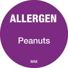 116146 - Daymark 25mm Circle Purple Allergen Peanuts Label