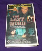 THE LAST WORD VHS PAL TIMOTHY HUTTON JOE PANTOLIANO