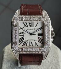 Cartier Santos 100 XL Ref. 2656 Diamonds Men's Watch 43mm