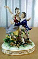 "Antique German Potschappel Porcelain Semi-Erotic Miniature, 5"" H."