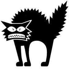 Sticker Déco XXL Animal Chat Halloween Terrifiant (35x35 cm à 60x60 cm).