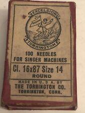 Vintage Excelsior Torrington Sewing Needles For Singer In Original Box