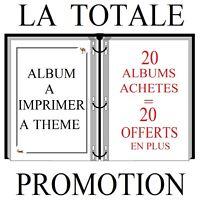 """Albums de timbres à imprimer   LOT  """" LA  TOTALE""""   20+20 OFFERTS"""