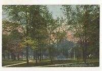 Military Park, INDIANAPOLIS IN Vintage Indiana Postcard
