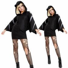 Mit Kapuze Fledermaus Damenkostüm Erwachsene Halloween Kostüm Vampir Flügel