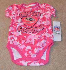Baltimore Ravens Baby Girl Loves Football Camo Bodysuit New 0-3 Months