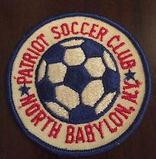 1980's North Babylon Patriot Long Island Ny Soccer Club Patch