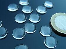10 cabochon,,pezzi, lenticchie di cristallo, base piatta, de 10mm