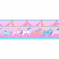 CAROUSEL SELF-ADHESIVE WALLPAPER BORDERS 5m (BO50053) NEW
