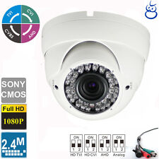 HD TVI 1080P Dome Camera 2.4MP Sony CMOS 2.8-12mm Varifocal OSD 42 IRs  Metal