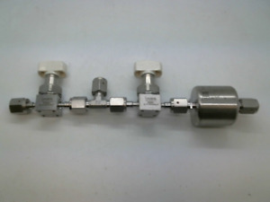 "1/4"" High Purity Gas Stick, Swagelok 6LVV-DPHFR4-P, SS-4-VCR-T, TEM-815"