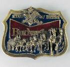 Vintage 1982 Budweiser Beer Belt Buckle Clydesdales Horses Anheuser Busch