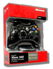 Microsoft XBOX 360 CONTROLLER WIRELESS e Ricevitore Adattatore per PC Windows NUOVO
