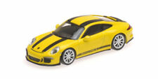 Porsche 911 R 2016 Yellow With Black Stripes And Black Writing 1:87 Model