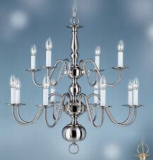 WILLIAMSBURG chandelier 12 lights Brushed Nickel 8140BN