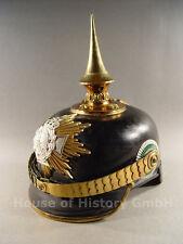 Sachsen: Pickelhaube Reserve Infanterie Offizier, Wappen mit Reservekreuz, 04658
