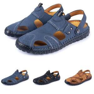 New Mens Sandals Beach Slingbacks Shoes Closed Toe Sports Walking Non-Slip Flats