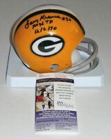 PACKERS Larry Krause signed mini helmet AUTO w/ 100 YD TD 12/6/70 JSA COA AUTO