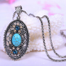 2017 Retro Vintage Hollow Tibet Turquoise Jewelry Gift Fashion Pendant Necklace