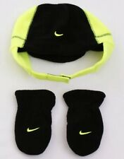 Nike Infant Baby 2 Piece Fleece Hat and Mittens Set (Black 12 / 24  Months