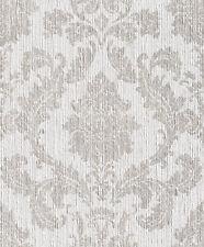 Barock Textil Tapete creme beige 077840 Rasch Textil auf Vliestäger