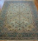 """GENUINE ANTIQUE KASHANN FLORAL HAND KNOTTED WOOL ORIENTAL RUG CLEANED 8'5"""" x 12'"""
