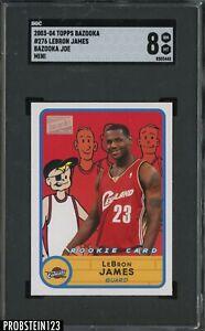 2003-04 Topps Bazooka Joe Mini #276 LeBron James RC Rookie SGC 8 NM-MT