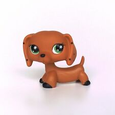 Littlest Pet Shop sausage dog LPS DACHSHUND toys Monopoly Snowflake Eyes