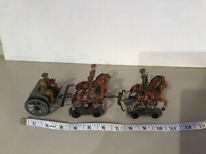 Schusso/Lineol/Elastolin Horse Drawn Wagon WW1 60 mm