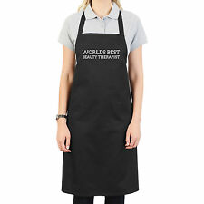 WORLDS BEST BEAUTY THERAPIST PERSONALISED APRON GIFT UNIQUE