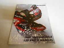 2006 GENUINE POLARIS 120 PRO X SERVICE REPAIR MANUAL 9919766