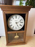 """Robinson Pendulum Decorative Wall Clock Quartz 20"""" Tall"""