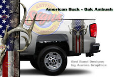 Oak Ambush Camo Truck Bed Band Decal Sticker Wrap American Buck Hunting 19 x 35