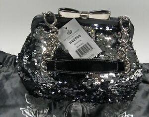 My Flat In London(MFIL) Brighton NWT Bristol Black & Silver Sequin Bag w/COA&Bag
