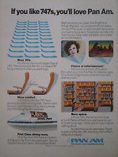 5/1976 PUB COMPAGNIE AERIENNE PAN AM AIRLINE BOEING 747 AIRLINER ORIGINAL AD